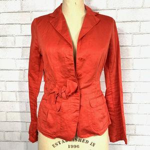 J. Crew 4-Buttons Linen Casual Blazer Jacket